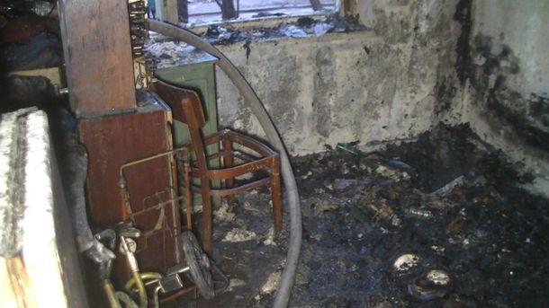 Кімната після пожежі