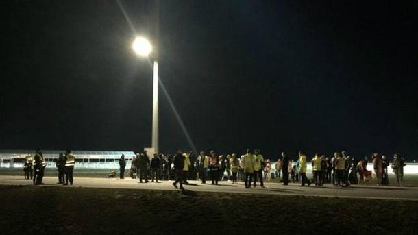 Евакуація в аеропорту Модлін
