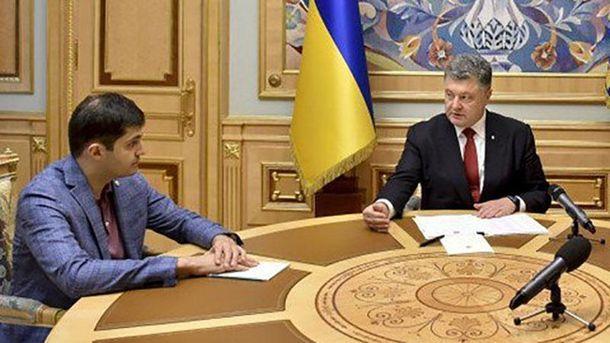 Давід Сакварелідзе і Петро Порошенко