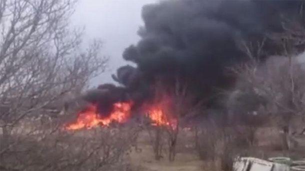 Місце катастрофи Су-25