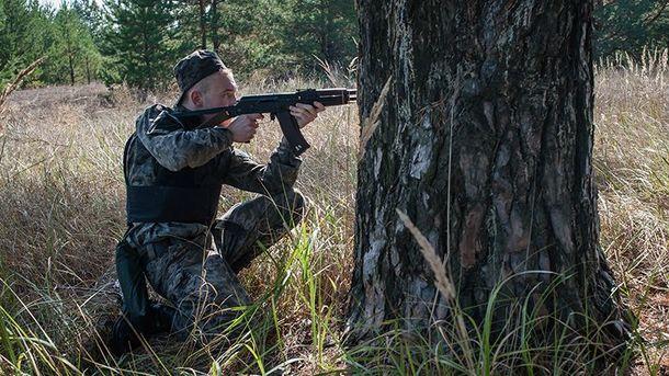 Украинский военный (иллюстрация)