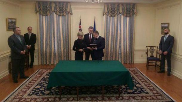 Украина подписала соглашение с Австралией