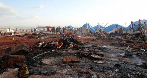 Разбомбленный лагерь