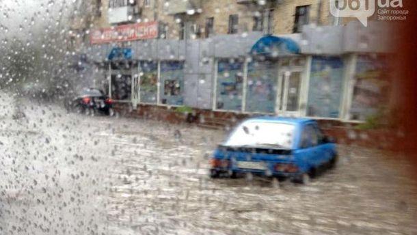 Наводнение в Запорожье