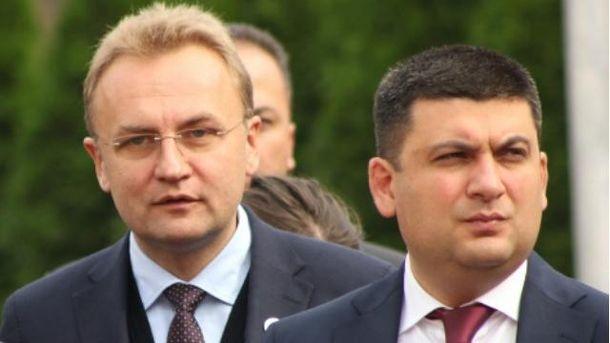 Андрій Садовий та  Володимир Гройсман
