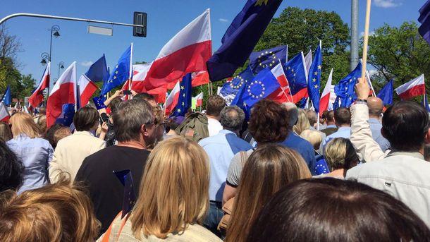 У Варшаві відбулося кілька мітингів