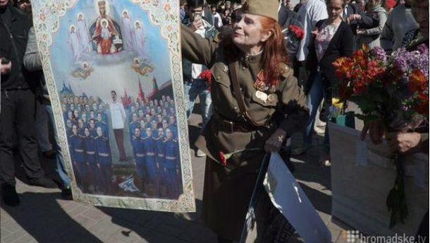 Портрет Сталіна у центрі Києва