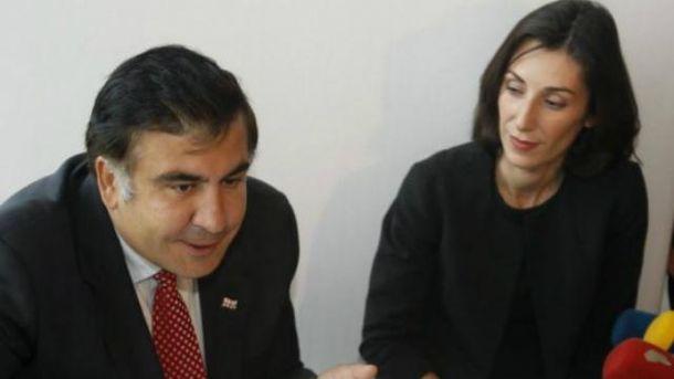 Міхеїл Саакашвілі і Ека Згуладзе