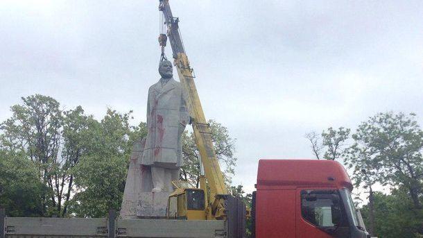 Знесення пам'ятника Леныну