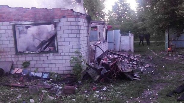 Будинок згорів ущент