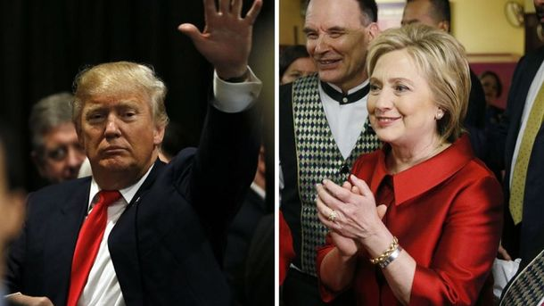Дональд Трамп і Хілларі Клінтон