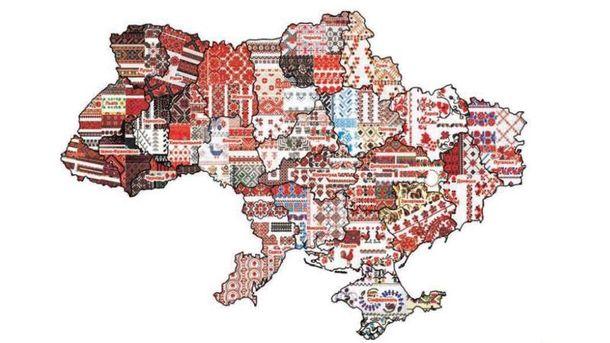 Украина в вышивке