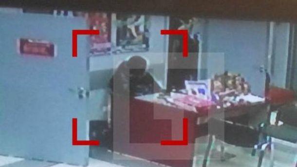 Кадр з відео спостереження