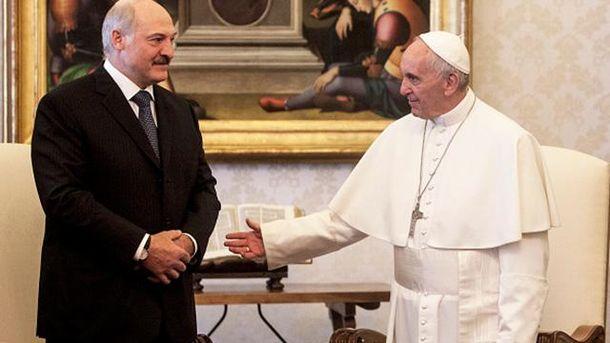 Олександр Лукашенко і Папа Франциск