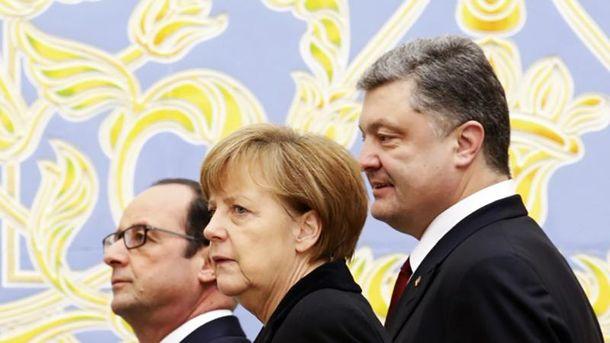 Лидеры Франции, Германии и Украины