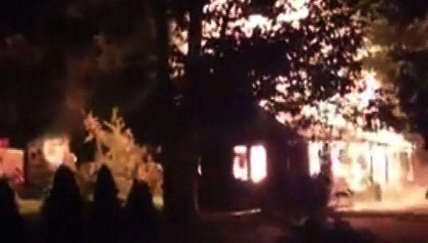 В Ужгороді згоріло кафе