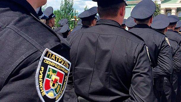 Патрульные на Луганщине