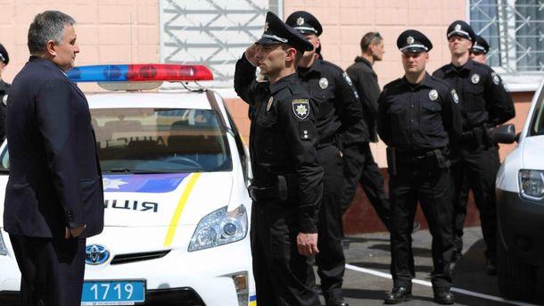 Арсен Аваков та патрульні поліцейські