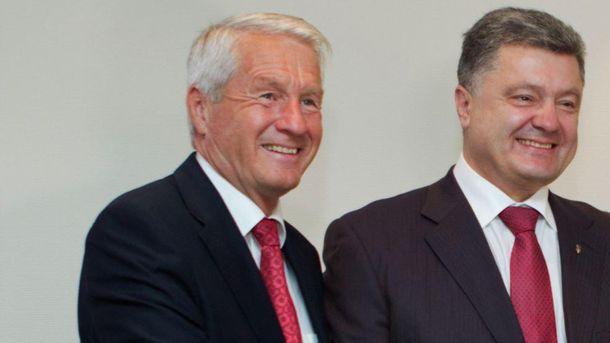 Турбьерн Ягланд и Петр Порошенко