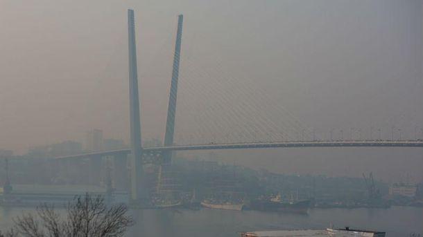 Густий смог у Владивостоці