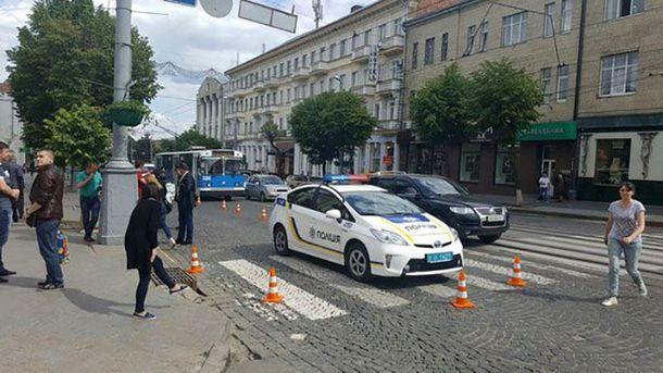 Місце аварії у Вінниці
