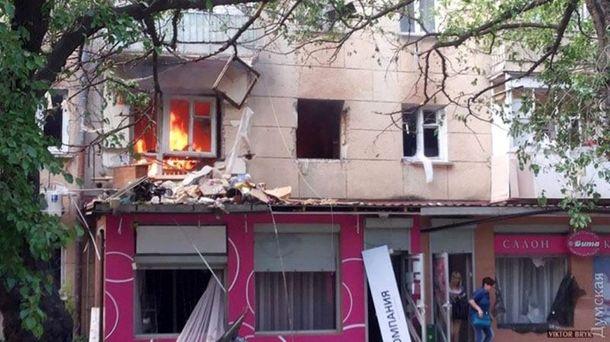 Пожежа після вибуху