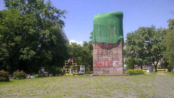 Підготовка до демонтажу пам'ятника чекістам у Києві