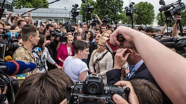 Разговор Надежды Савченко и Юлии Тимошенко