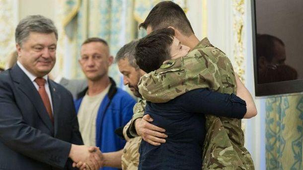 Савченко зустрілась з побратимами