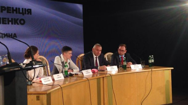 Надежда Савченко не сдерживает эмоций на пресс-конференции