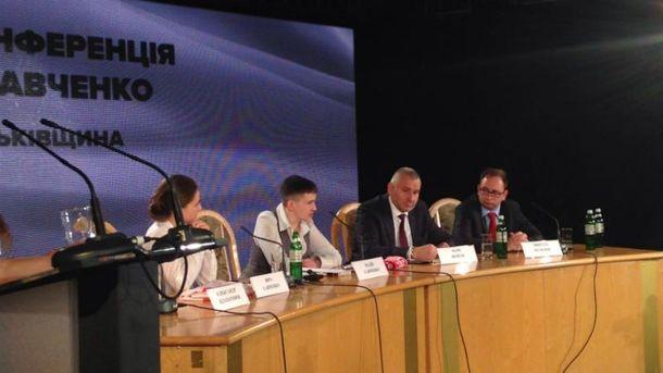 Емоційна прес-конференція Надії Савченко