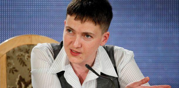 Надія Савченко на прес-конференції