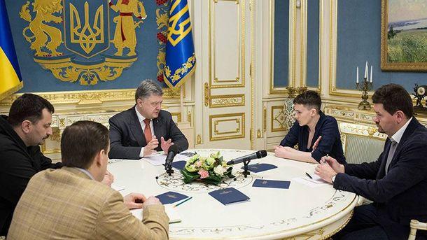 Петро Порошенко і Надія Савченко обговорили санкції