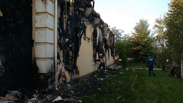 Пожар в Литочках