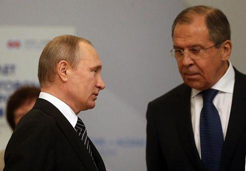 Володимир Путін і Сергій Лавров