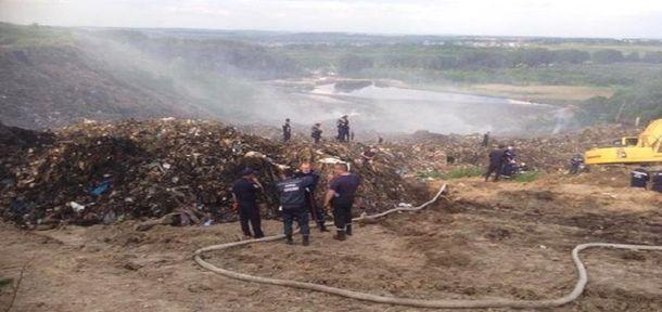 Пожар на Грибовицкой свалке