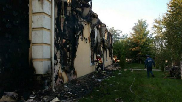 Пожар в пансионате под Киевом