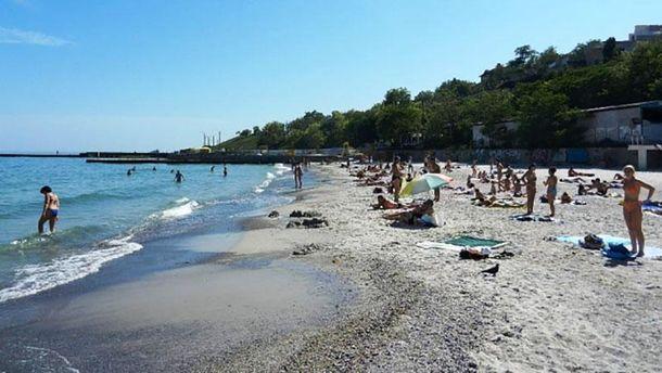 Пляж в селе Фонтанка