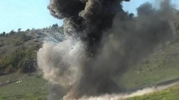 Взрыв в Донецке. Иллюстрация