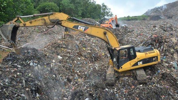 Свалка мусора в Грибовичах