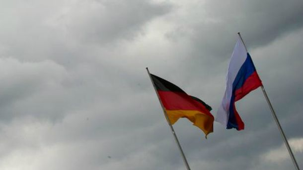 Прапори Німеччини і Росії