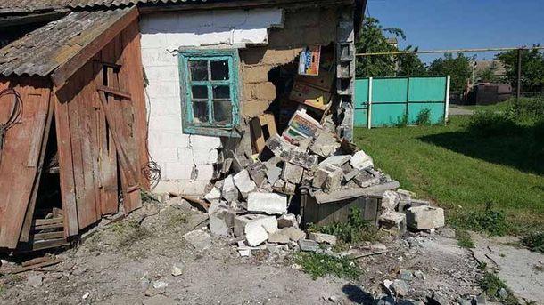Николаевка после обстрела