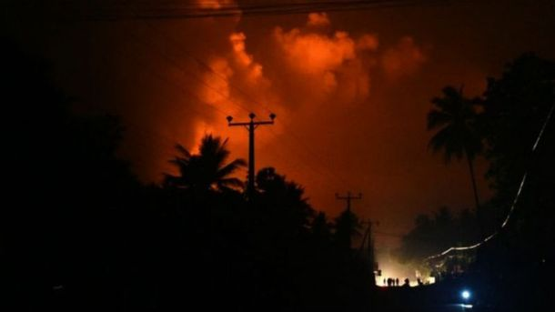 Пожар на Шри-Ланке
