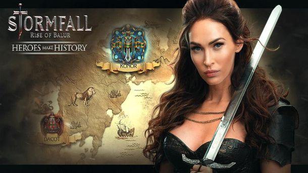 Меган Фокс в мобильной игре Stormfall: Rise of Balur