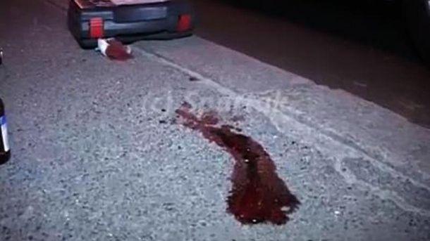 Место кровавой перестрелки между водителями