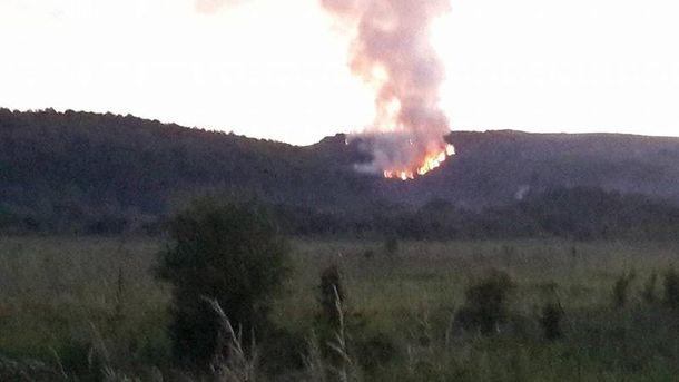 Огонь на Грибовицкой свалке