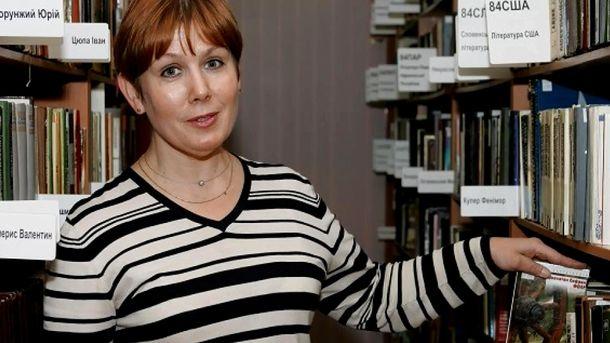 Директор Бібліотеки української літератури в Москві Наталія Шаріна