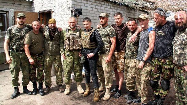 Дмитрий Ярош, Надежда Савченко и украинские военные