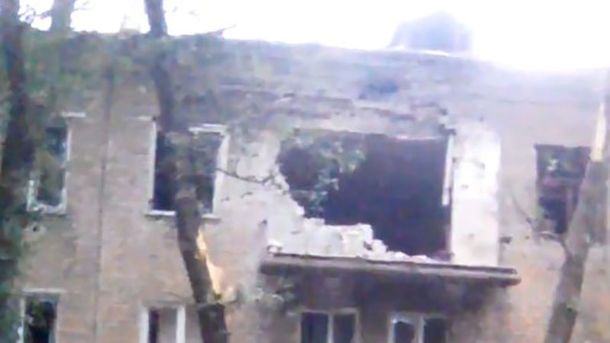 Донецк после обстрела