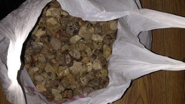 Правоохранители изъяли 18 килограммов янтаря